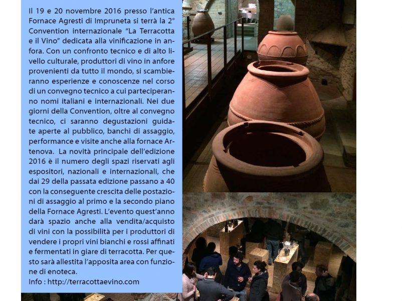 Sul magazine Gola Gioconda le novità dell'edizione 2016 de La Terracotta e il Vino a Impruneta