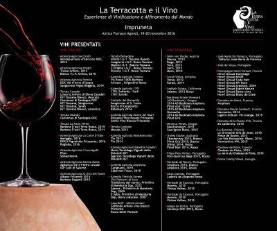 """I vini presentati a """"La Terracotta e il Vino"""": produzioni ispirate alla tradizione e alla naturalità dell'anfora. In campagna come in cantina"""