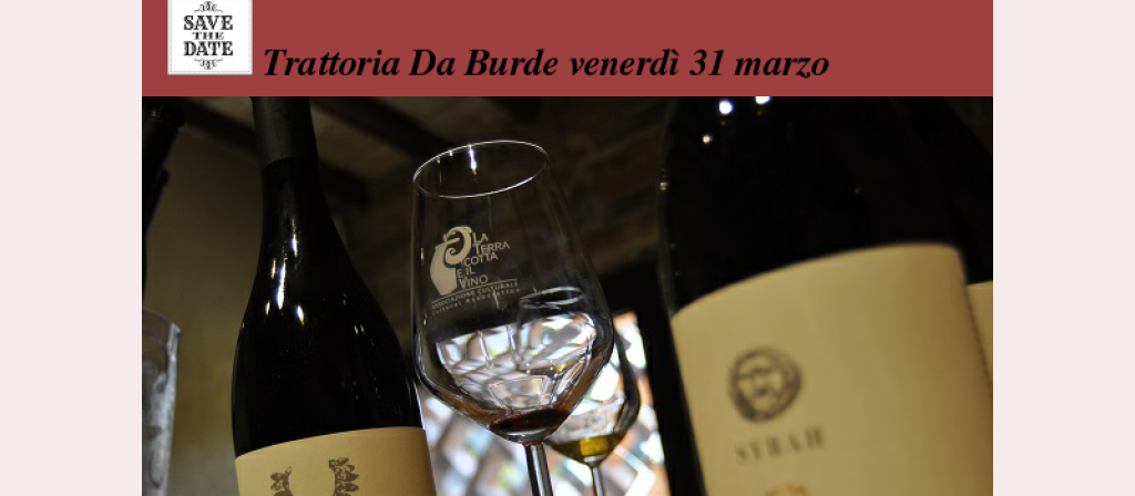 "Leonardo Parisi, Artenova dines with ""La terracotta e il vino"" Friday March 31 at Da Burde in Florence"