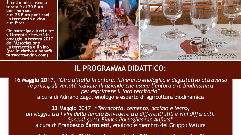Lezioni di avvicinamento ai vini in anfora alla Fornace Agresti con l'Associazione La terracotta e il vino