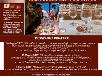 "Lectures and wine tasting for an approach to wine in amphora at Fornace Agresti with the Association ""La terracotta e il vino"""
