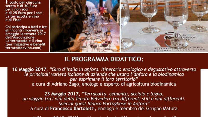 """Lectures and wine tasting for an approach to wine in amphora at Fornace Agresti with the Association """"La terracotta e il vino"""""""