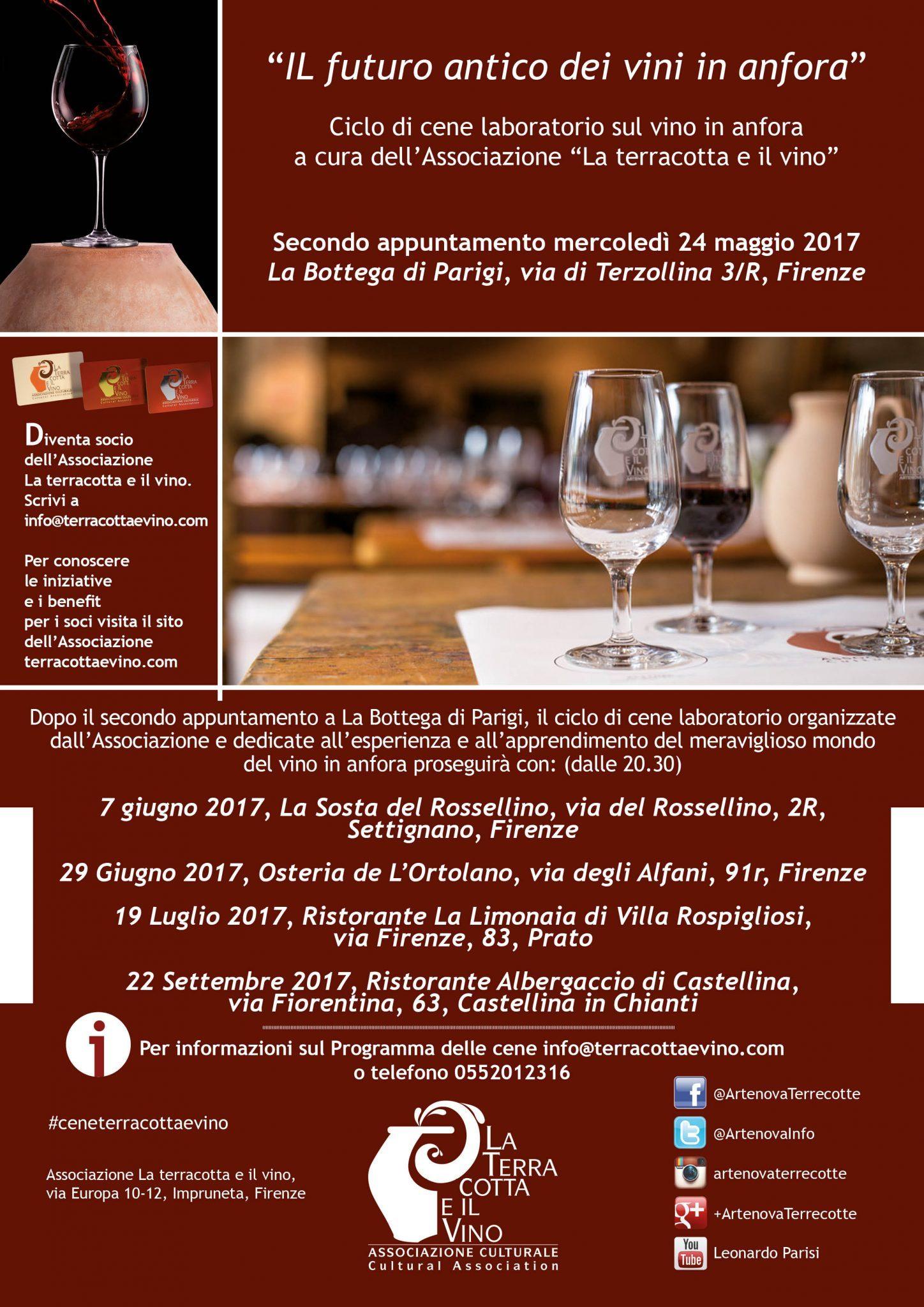 La Limonaia Villa Rospigliosi cene laboratorio su vini in anfora | la terracotta e il vino