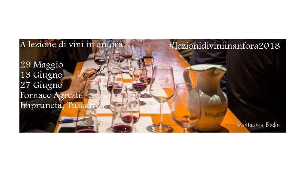 """Torna il """"Giro d'Italia in anfora"""" con le lezioni degustazione di vino in terracotta. Impruneta 29 maggio, 13 e 27 giugno 2018"""