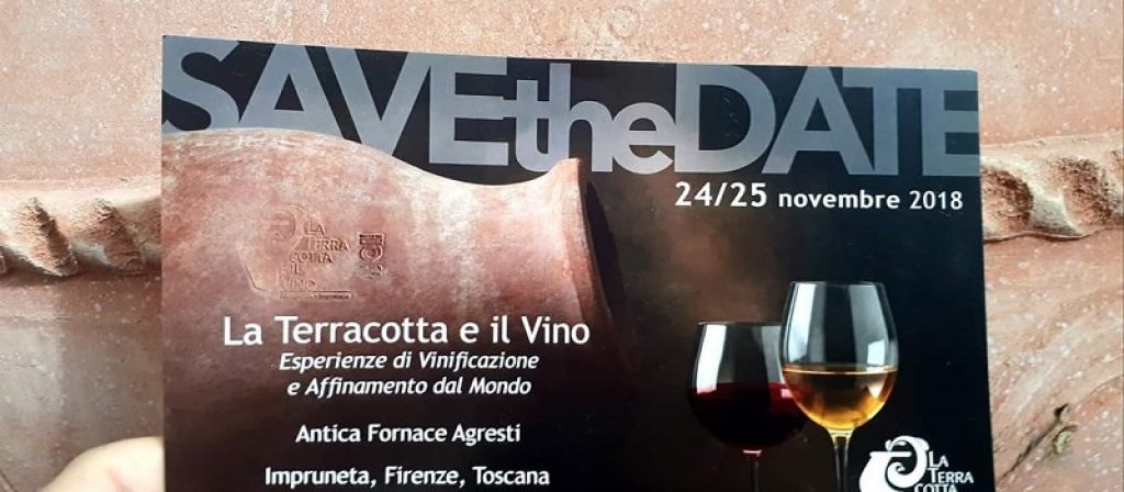 La Terracotta e il Vino 2018   24-25 Novembre 2018 Fornace Agresti – Impruneta (Firenze) – COMUNICATO STAMPA N. 2