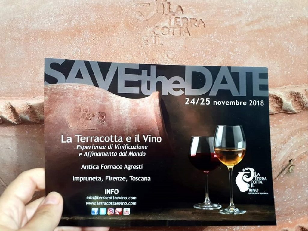 La Terracotta and Wine 2018 24-25 November 2018 Fornace Agresti – Impruneta (Florence) – PRESS RELEASE N. 2
