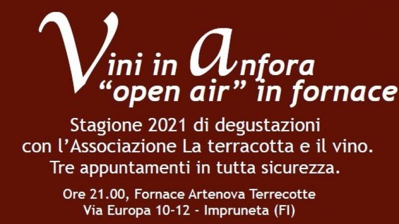 """Degustazioni """"open air"""" in fornace. Si riparte! Stagione 2021 di avvicinamento ai vini in anfora con l'Associazione La terracotta e il vino.  Tre appuntamenti in tutta sicurezza (30/6 e 8 e 13/07)"""